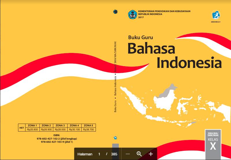 KELAS X BAHASA INDONESIA BUKU GURU