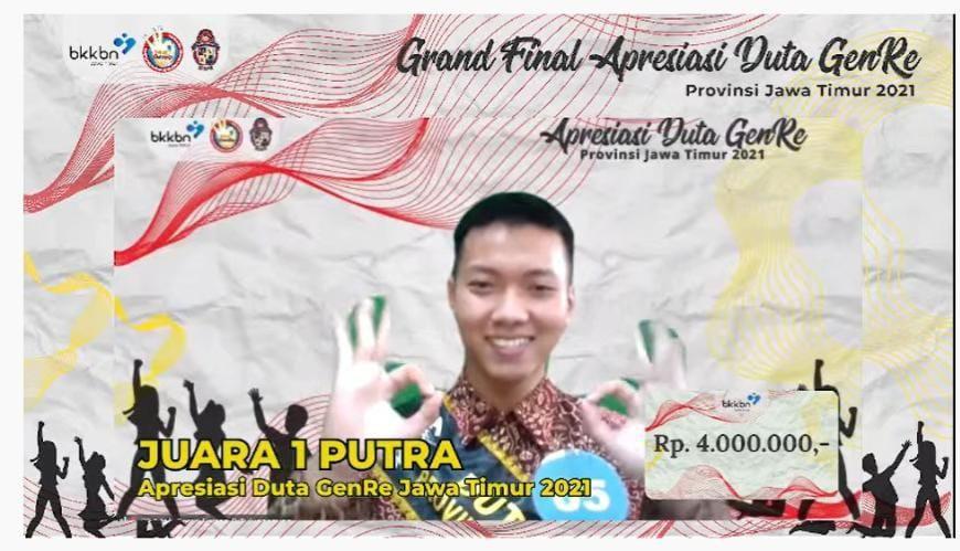 Moch Suma Firman R Kelas XII MIPA 2 MAN 3 Tulungagung Jadi Duta GenRe Jawa Timur 2021