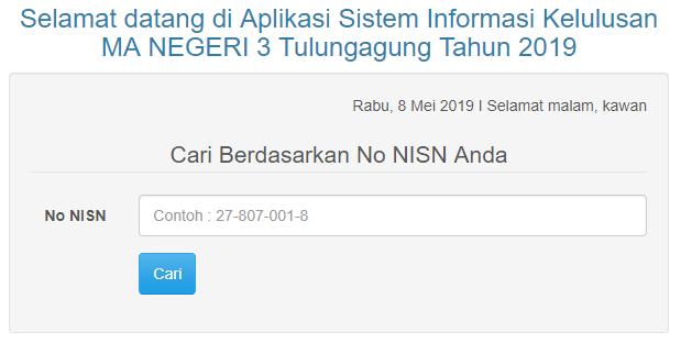 Aplikasi Sistem Informasi Kelulusan